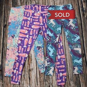 Bundle Of 2 Lularoe Colourful Patterned Leggings
